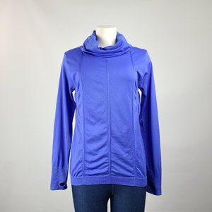 Mpg Blue Long Sleeve Active Top Size L